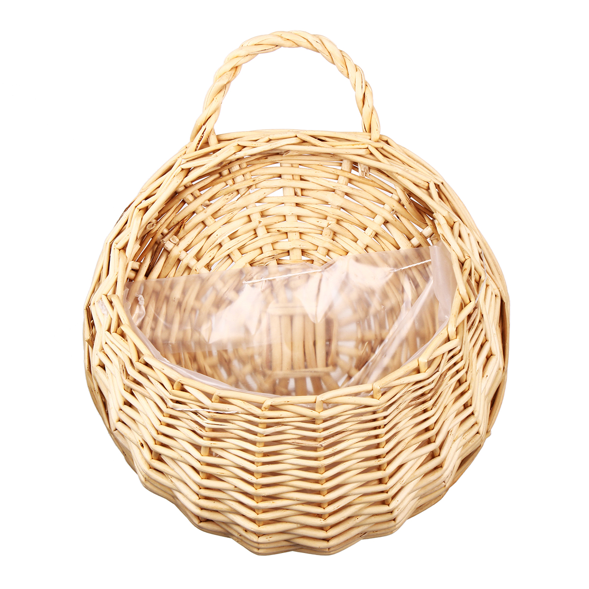 Wicker Rattan Flower Pot Plant Stand Holder DIY Home Wall Hanging ...