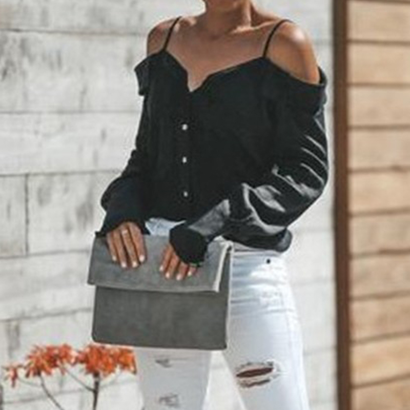 Women-Strappy-Cold-Shoulder-Top-Tee-T-Shirt-Ruffle-Loose-Beach-Club-Party-Blouse thumbnail 9