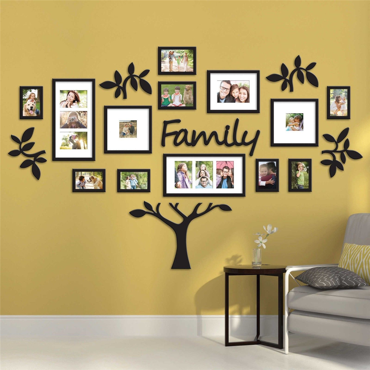 Family Tree Picture Collage Wall Art