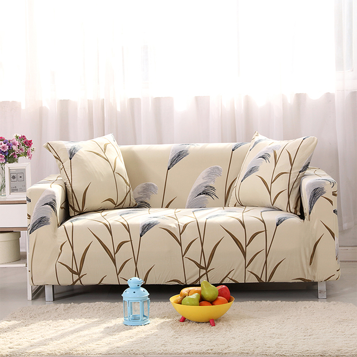 1/2/3/4 Seater Sofa Slipcover Stretch Protector Soft Couch Loveseat ...