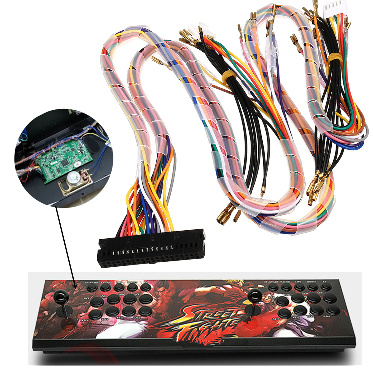 Details about Wiring Harness Cable Replacement Parts Assemble For Arcade  Jamma Board