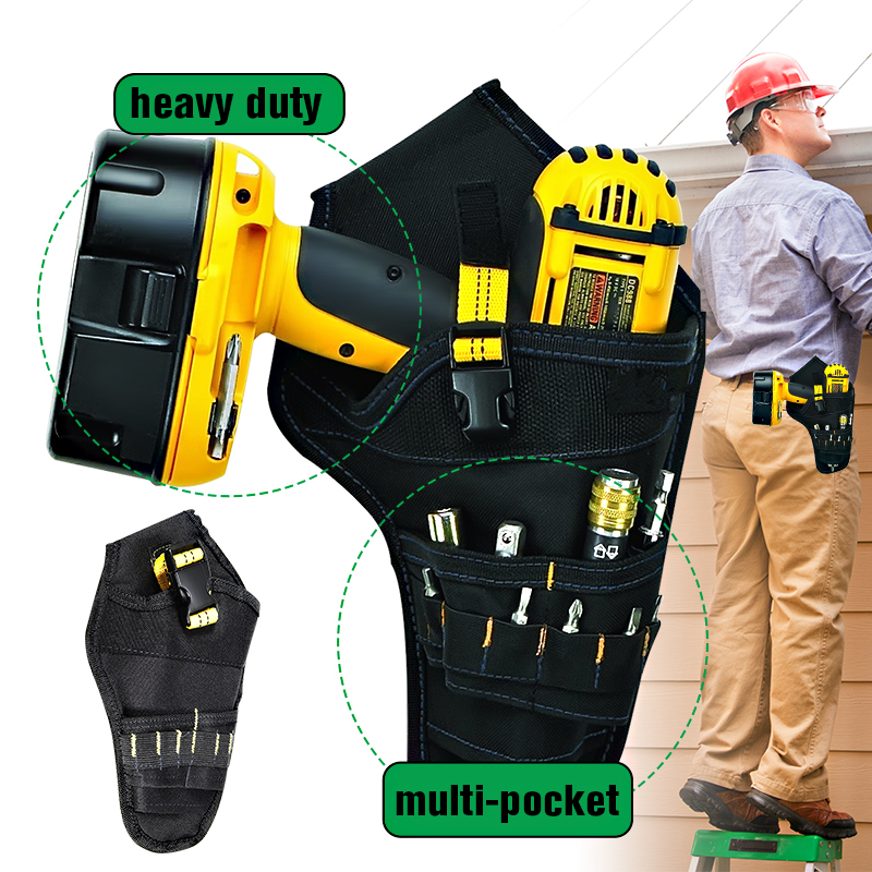 Tool Parts 600doxford Cloth Heavy-duty Cordless Drill Holster Tool Belt Pouch W/bit Pocket