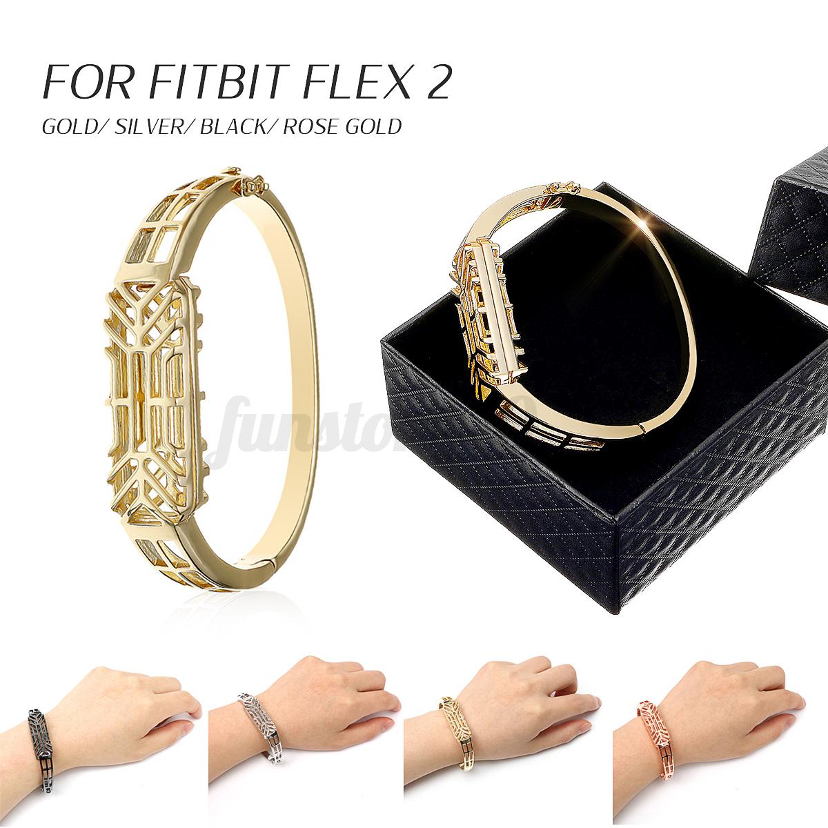 Edelstahl Armband Armreif Band Handschlaufe für Fitbit Flex 2 Tracker Geschenk