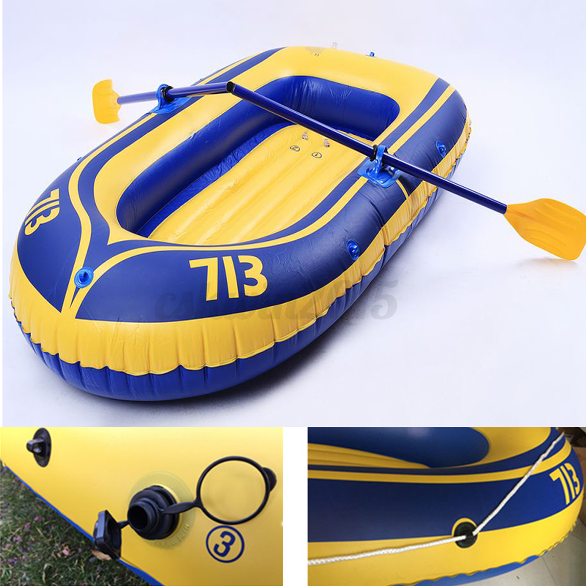 Yellow Inflatable Boat