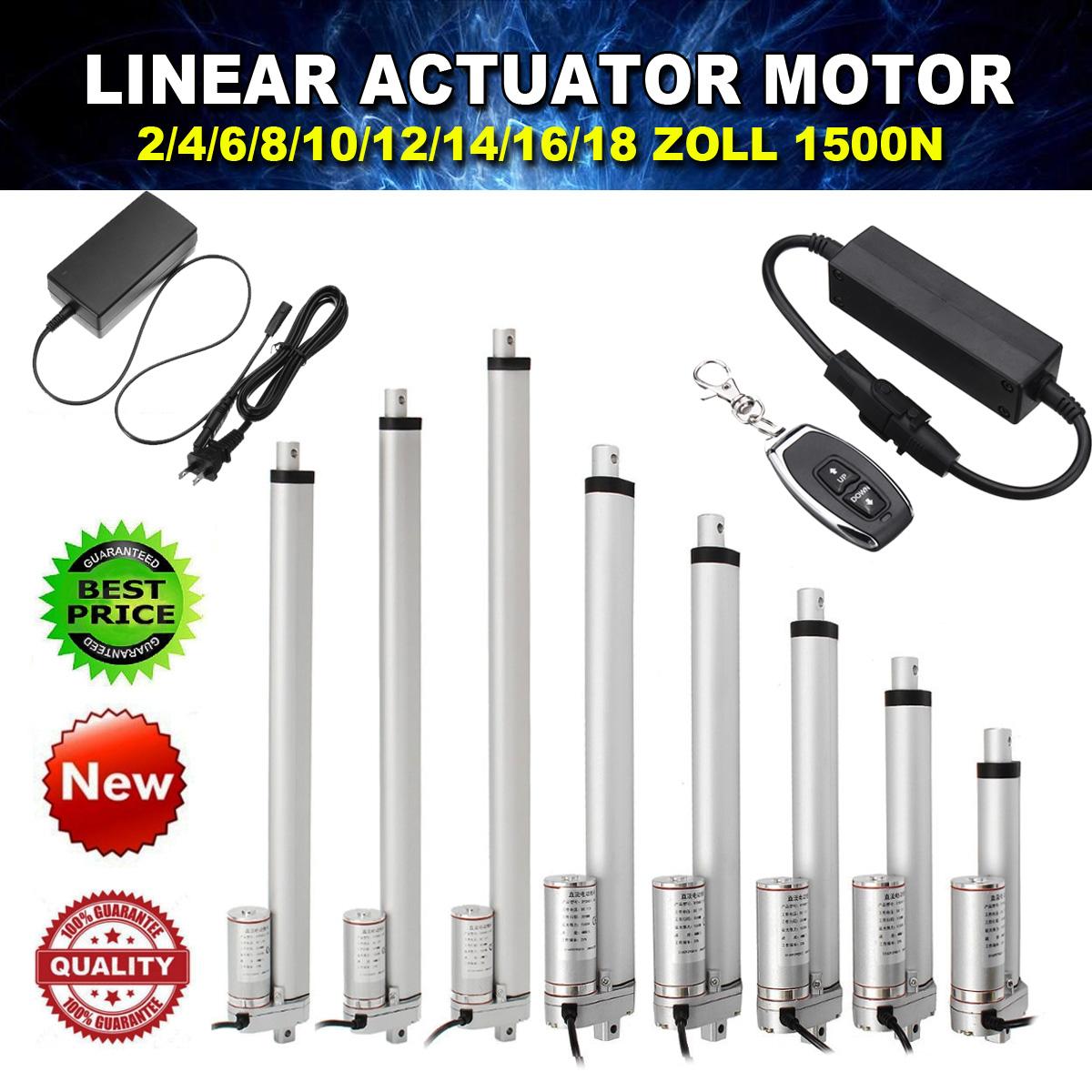 Electric Motor Linear Actuator 1500N 330lbs 50MM-500MM DC 12V Door Opener IP54