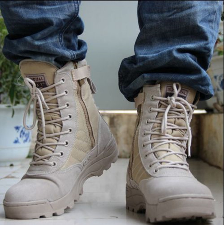 mens lace up strappy military combat boots round toe