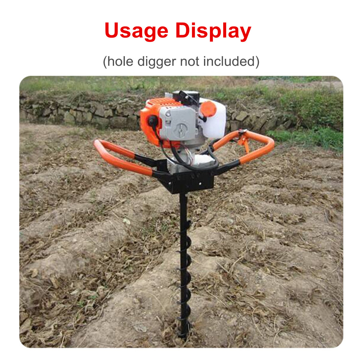 UK Earth Auger Drill Bit 40//60//100 X 800mm Ground Fence Post Hole Drilling Plant