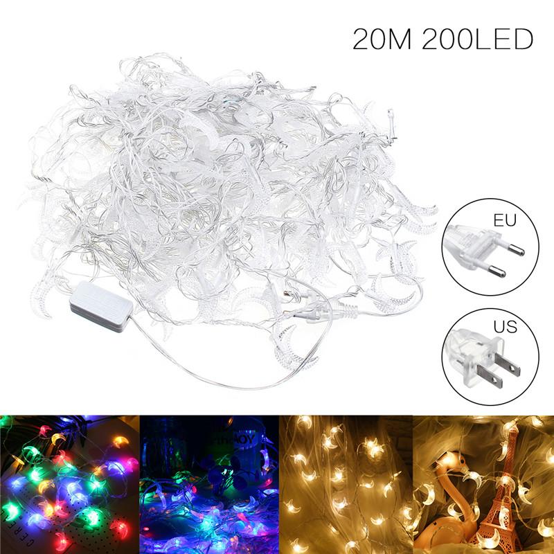 20-200LED-3M-20M-Lune-Guirlande-Lumineuse-Lampe-Fete-Noel-Soiree-Mariage-Decor