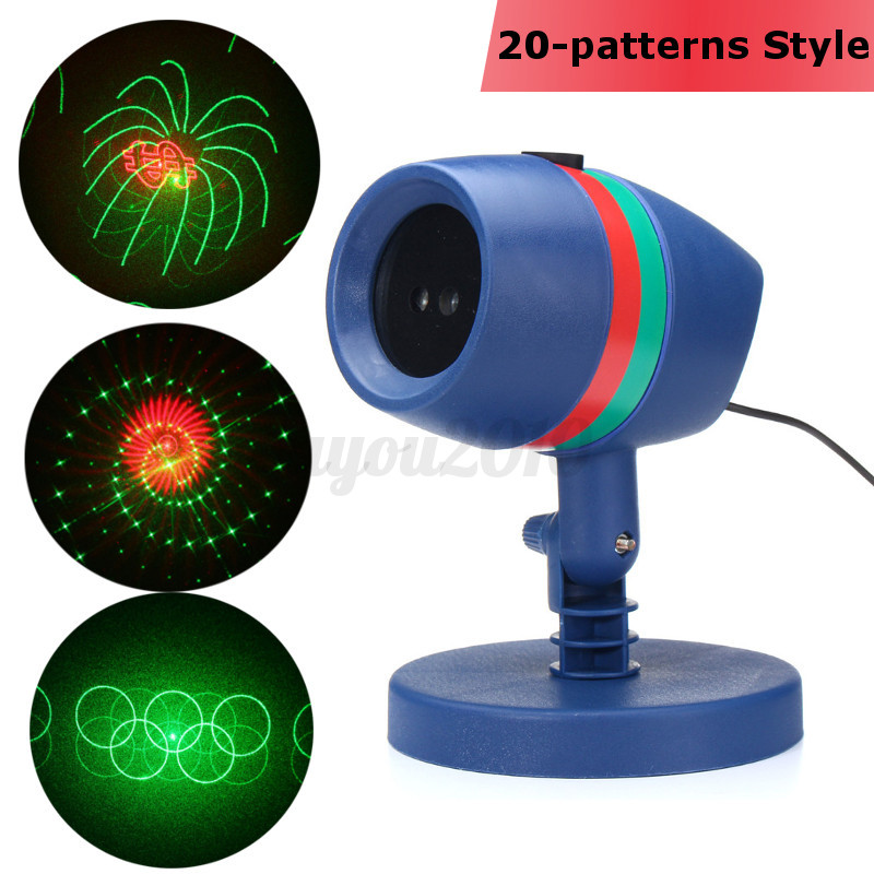 Laser projecteur mouvement r g lumi re pelouse ext rieur jardin f te no l d cor ebay for Lumiere noel exterieur projecteur