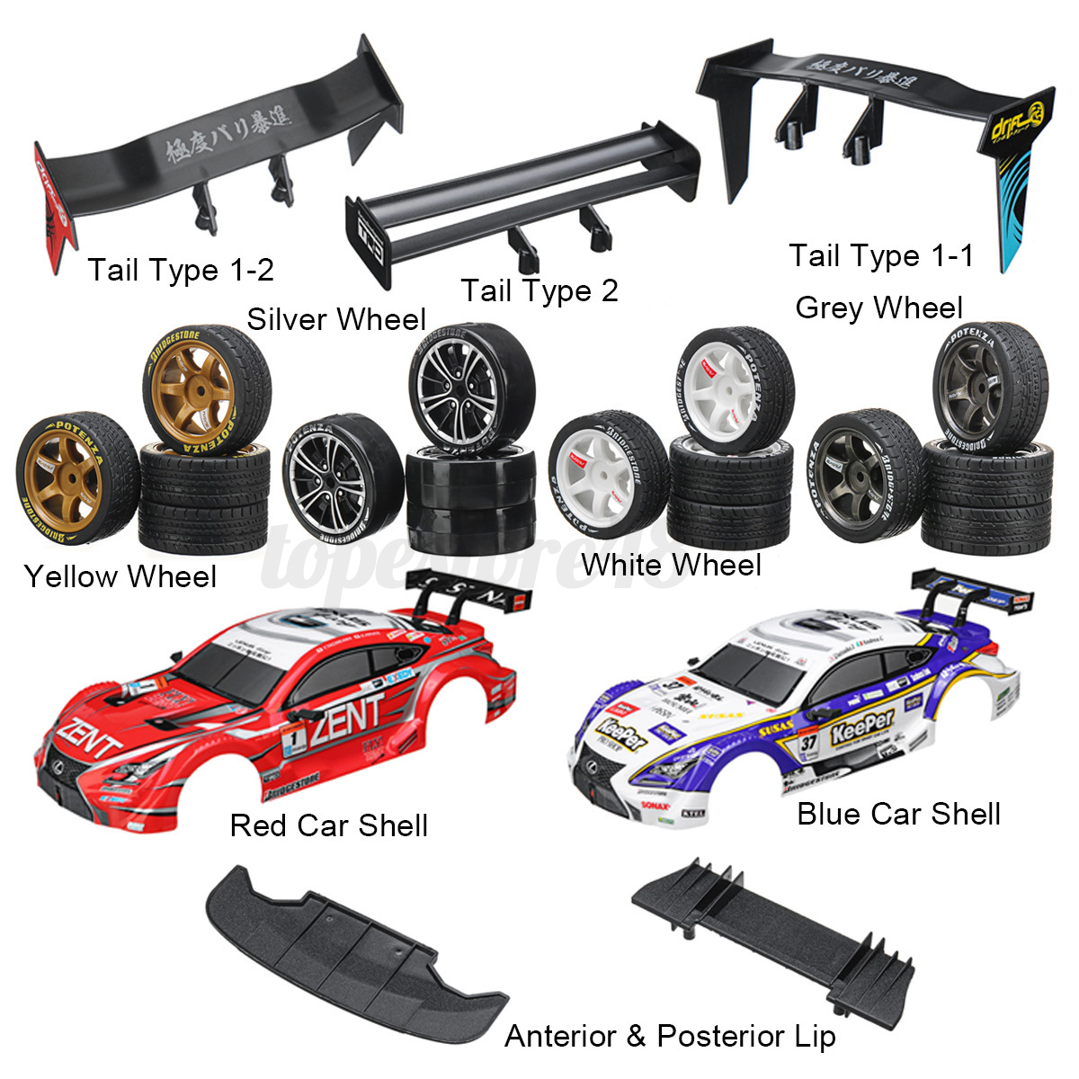1-16-High-Speed-Upgrade-Replacement-Parts-For-2-4G-4WD-Drift-Stunt-Racing-RC-Car thumbnail 2