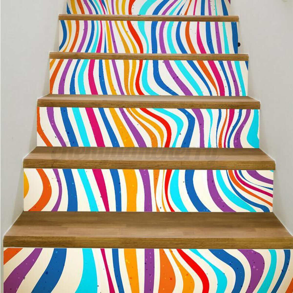 3d 6pcs Stair Stickers Risers Decoration Photo Mural Vinyl