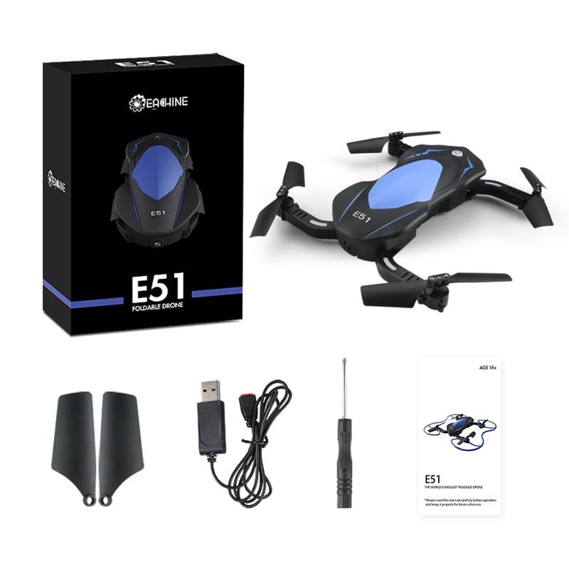 Eachine-E51-WiFi-FPV-6-Axis-Kopflos-HD-Kamera-Selfie-Drone-RC-Quadcopter-RTF