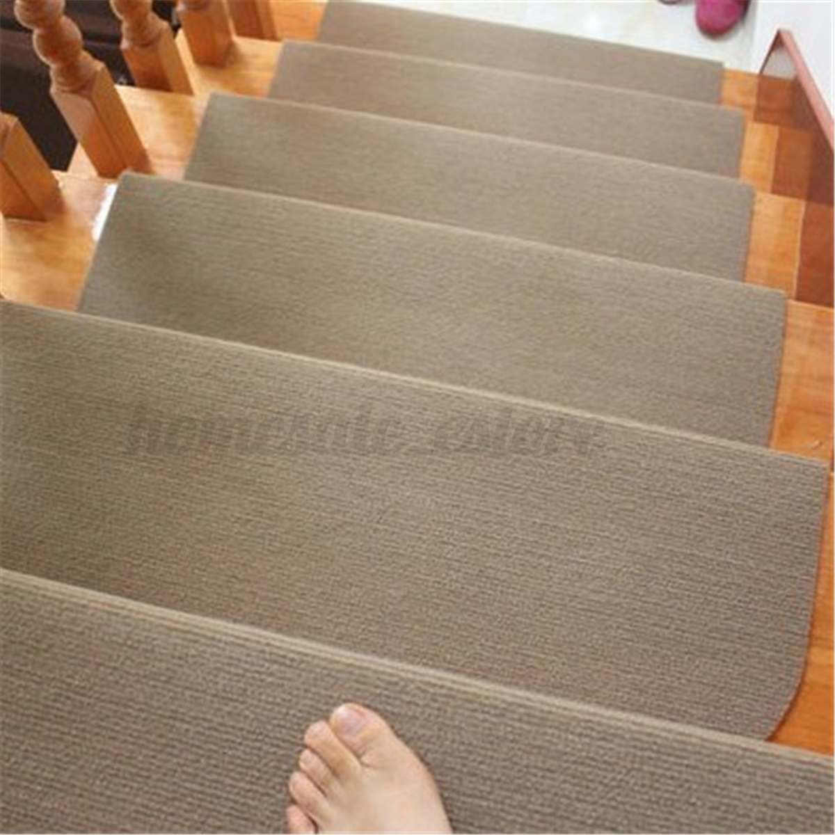13PCS Non Slip Carpet Stair Treads Mats Staircase