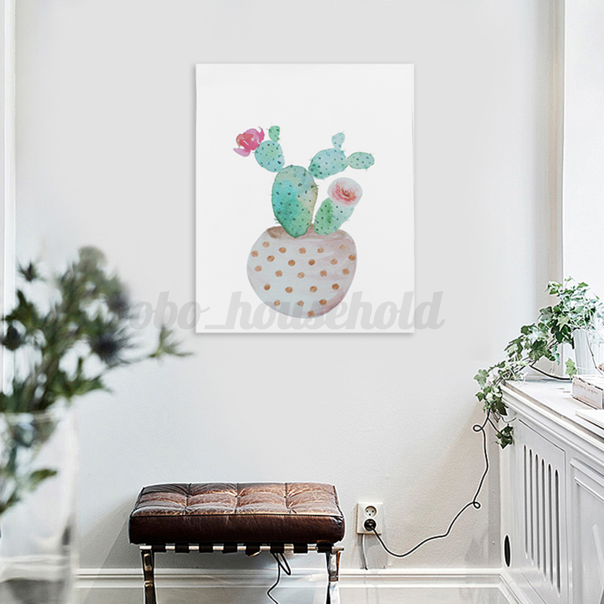 Home Wall Art Watercolor Canvas Cactus Painting Print Picture Modern Home Wall