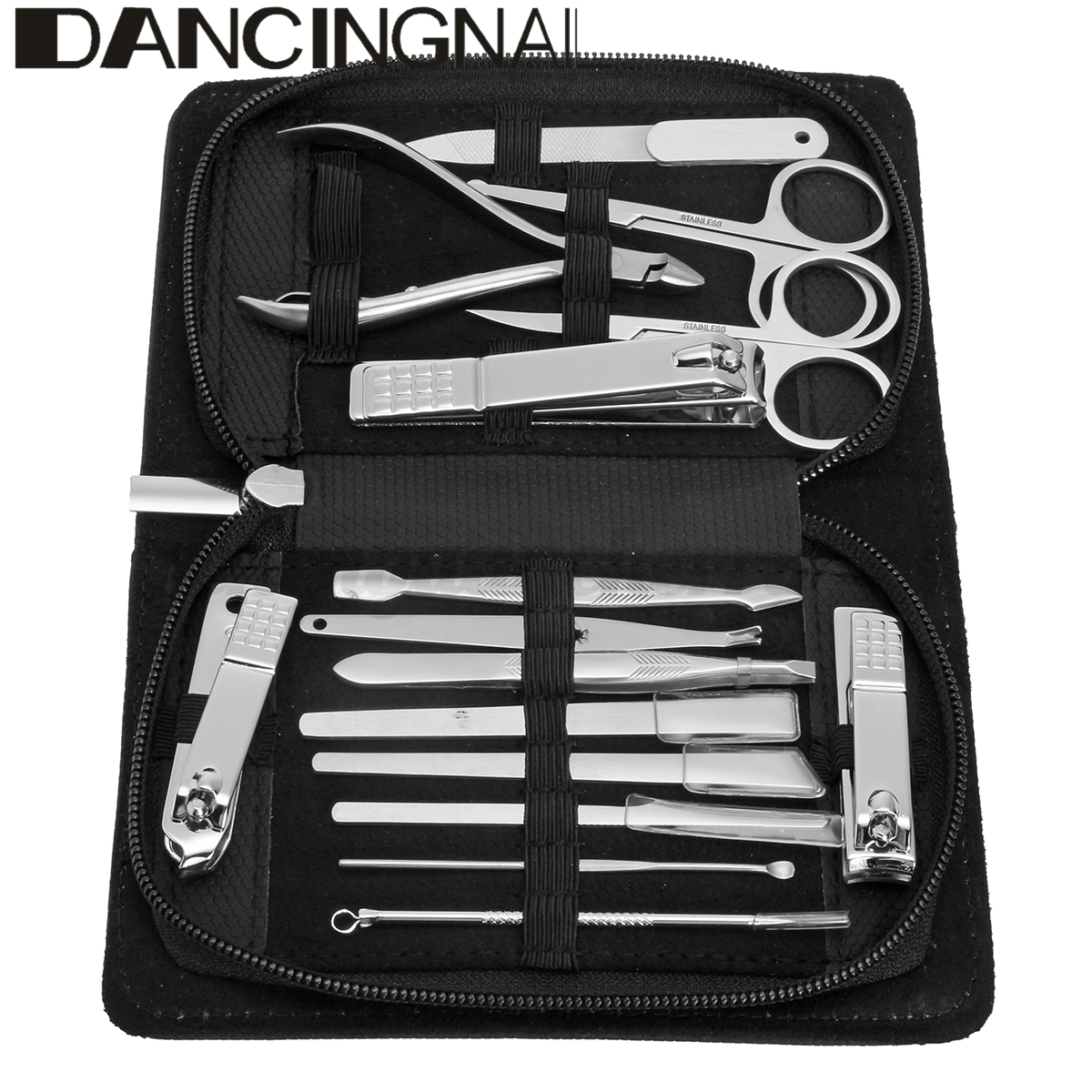 15Pcs Manicure Pedicure Set Stainless Nail Clippers Kit Cuticle ...