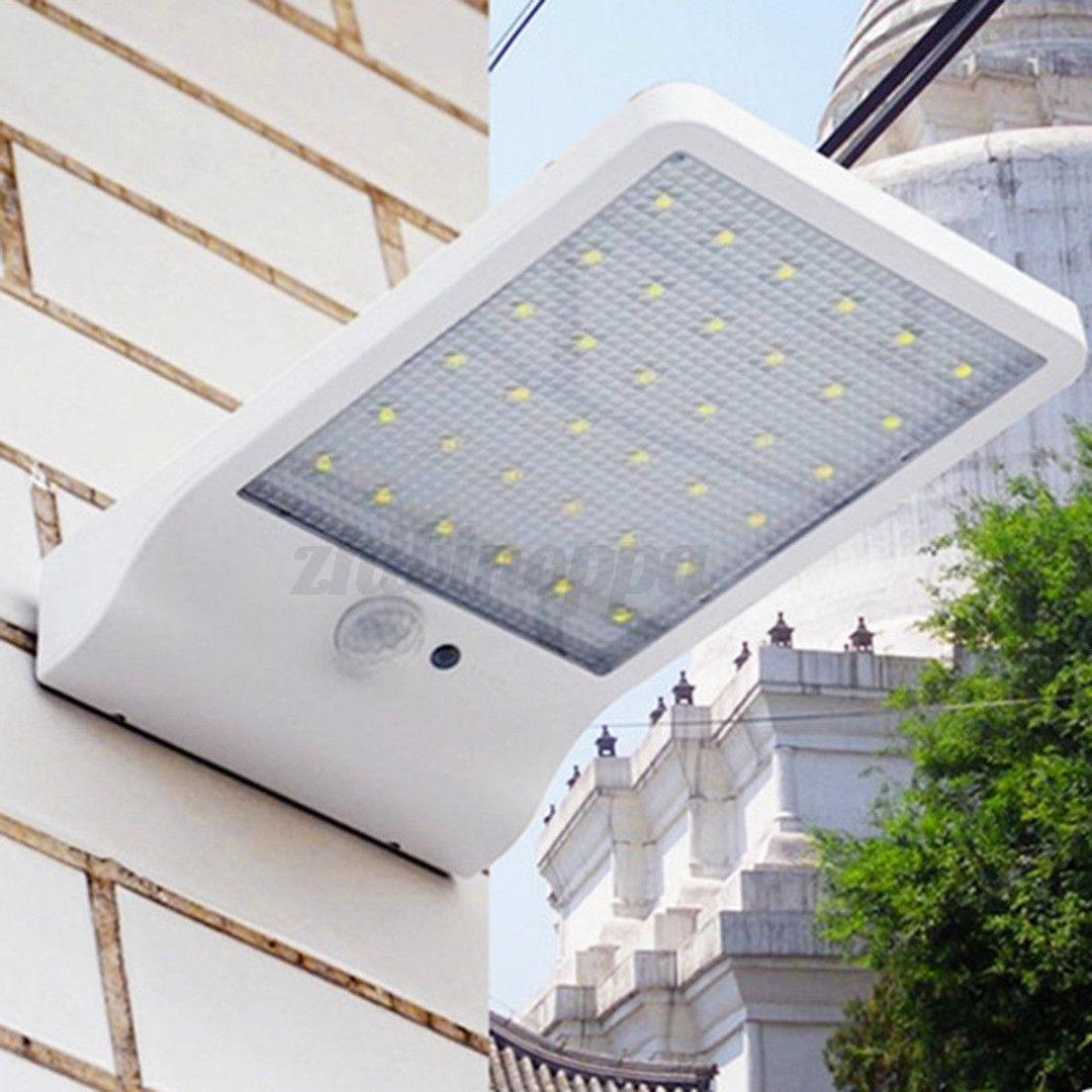 36/48LED Solar Power Motion Sensor Garden Security Lamp Outdoor Waterproof Light