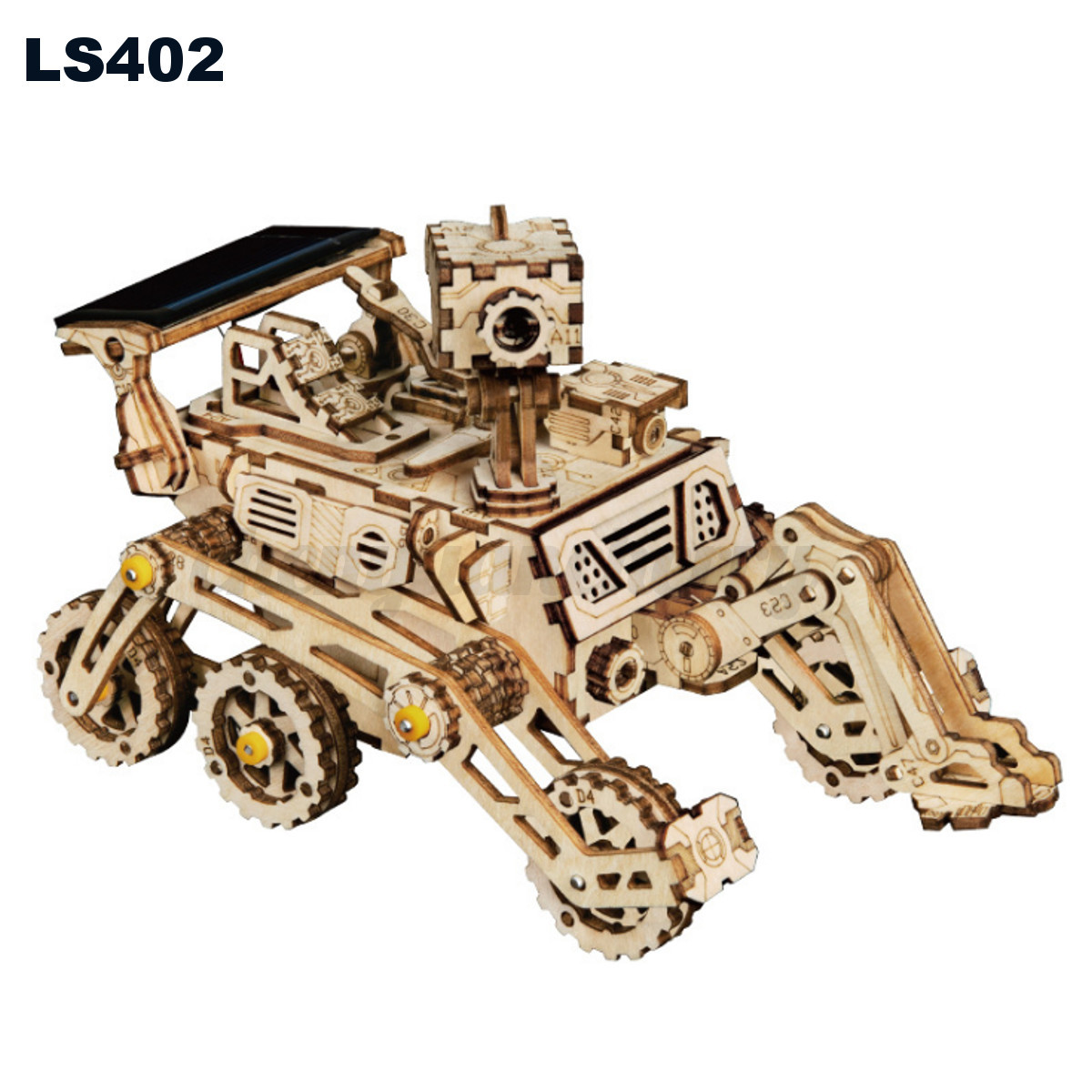 3D-Wooden-Puzzle-Cut-Solar-Energy-Marble-Run-Kits-Toy-Gift-for-Adults-Kids thumbnail 14