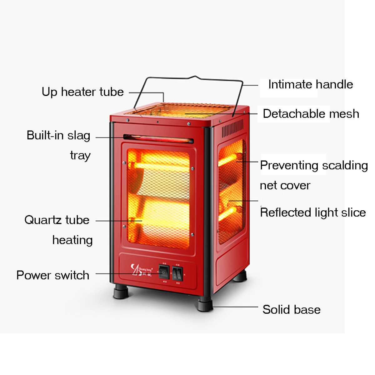 2000W Electric Garage Space Heater Winter Hot Thermostat ...