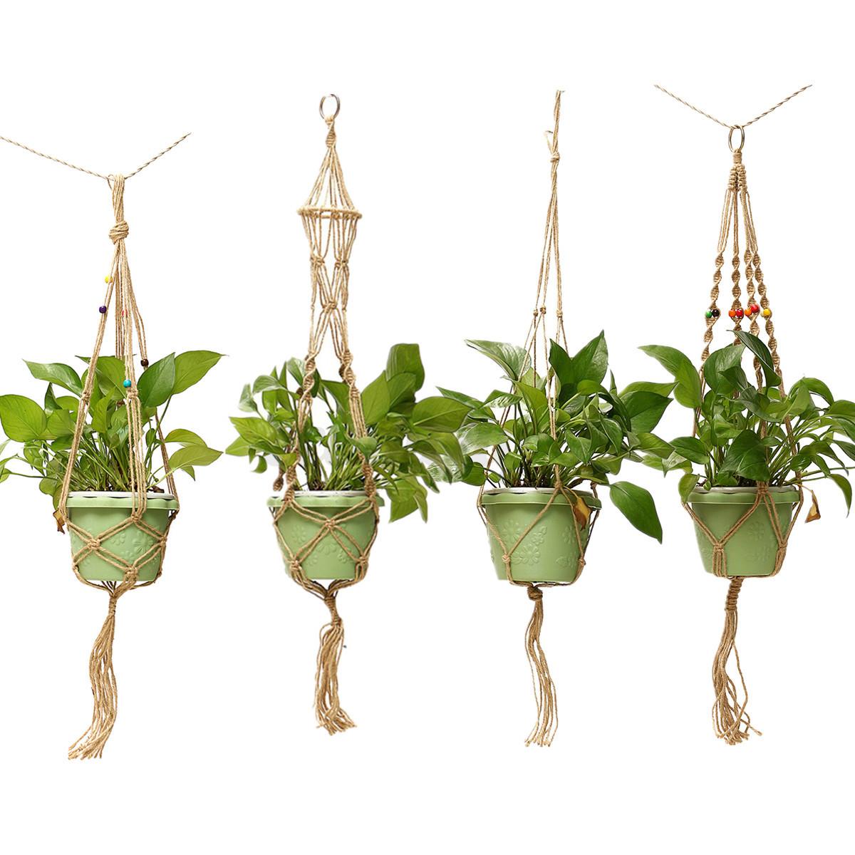Handmade Jute Macrame Cord Plant Hanger Flower Pot Holder