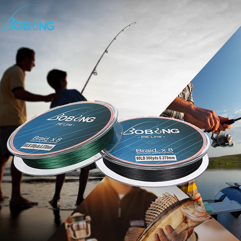 300M Super Strong PE Dyneema Sea Fishing Line 8 Strands Braided Wire ...