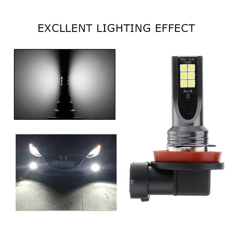 2X 80W H11 H8 Hochleistungs Superweiß   LED Nebelscheinwerfer DRL Fahrlampe