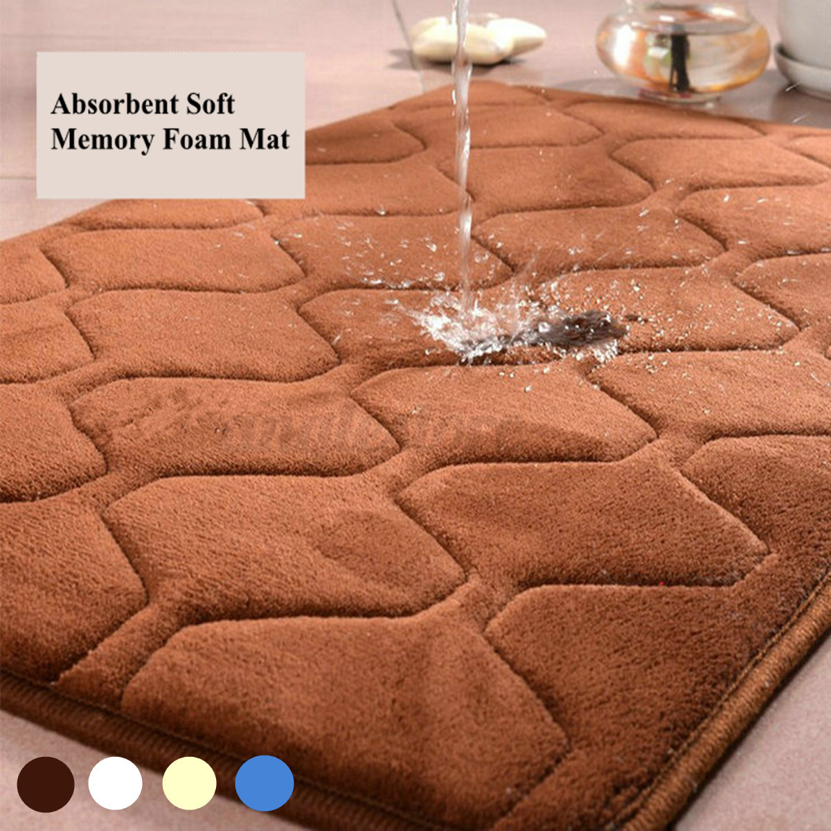 Carpet In A Bathroom: Memory Foam Mat Bath Bathroom Rug Shower Non-slip Carpet
