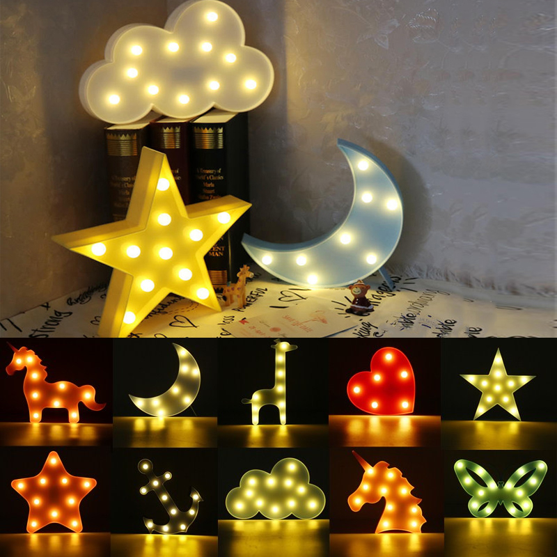 11 led mignon veilleuse nuit lampe nuage animal enfant b b chambre lumi re d co eur 7 94. Black Bedroom Furniture Sets. Home Design Ideas