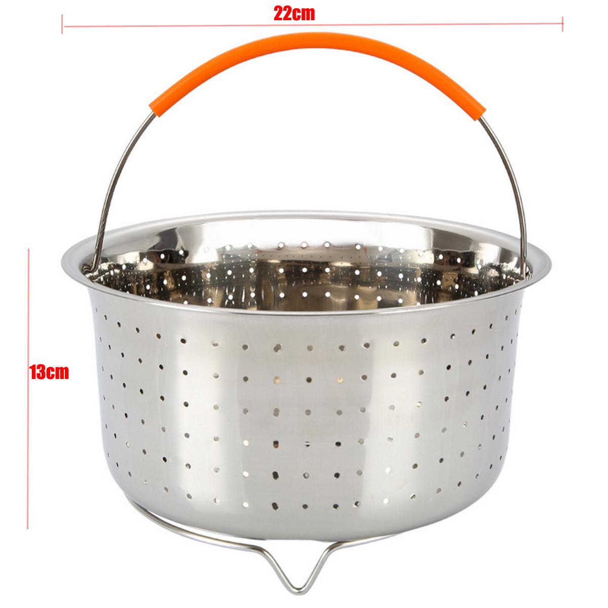 304 stainless steel steam steamer w handle for instant pot rice pressure cooker ebay. Black Bedroom Furniture Sets. Home Design Ideas