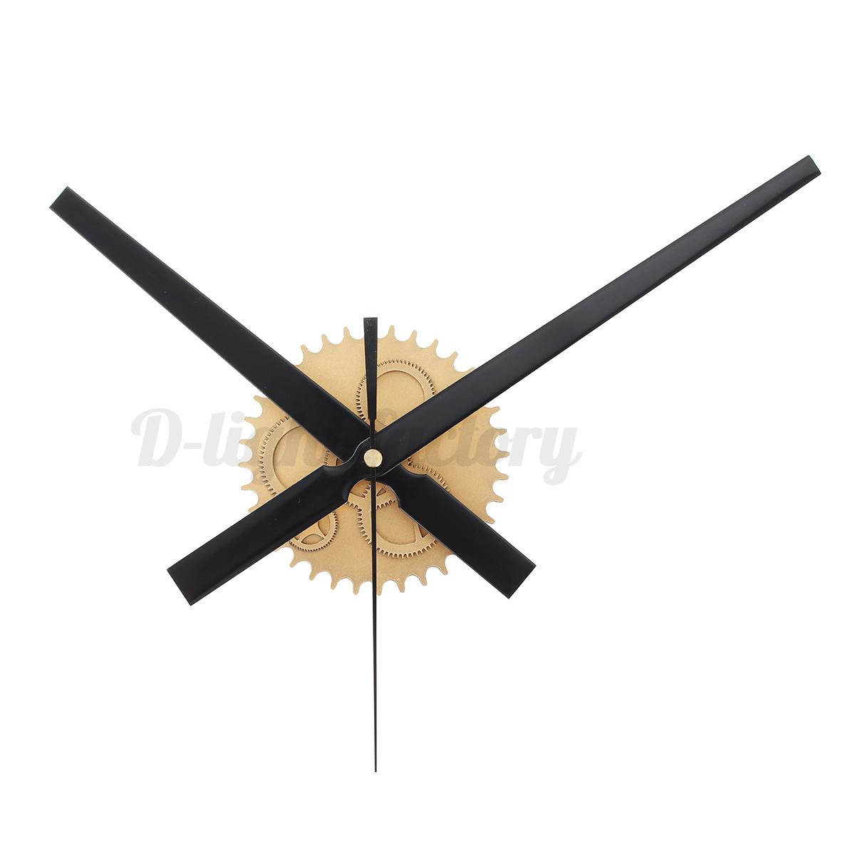 Diy Large Silent Quartz Wall Clock Movement Hands Mechanism Repair