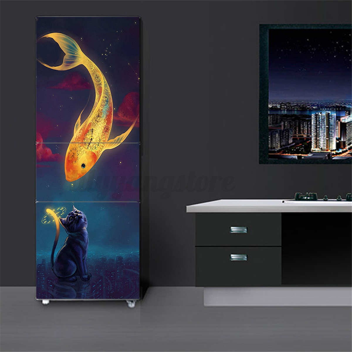 3d wall art sticker vinyl decal self adhesive door fridge wrap 3d wall art sticker vinyl decal self adhesive amipublicfo Gallery