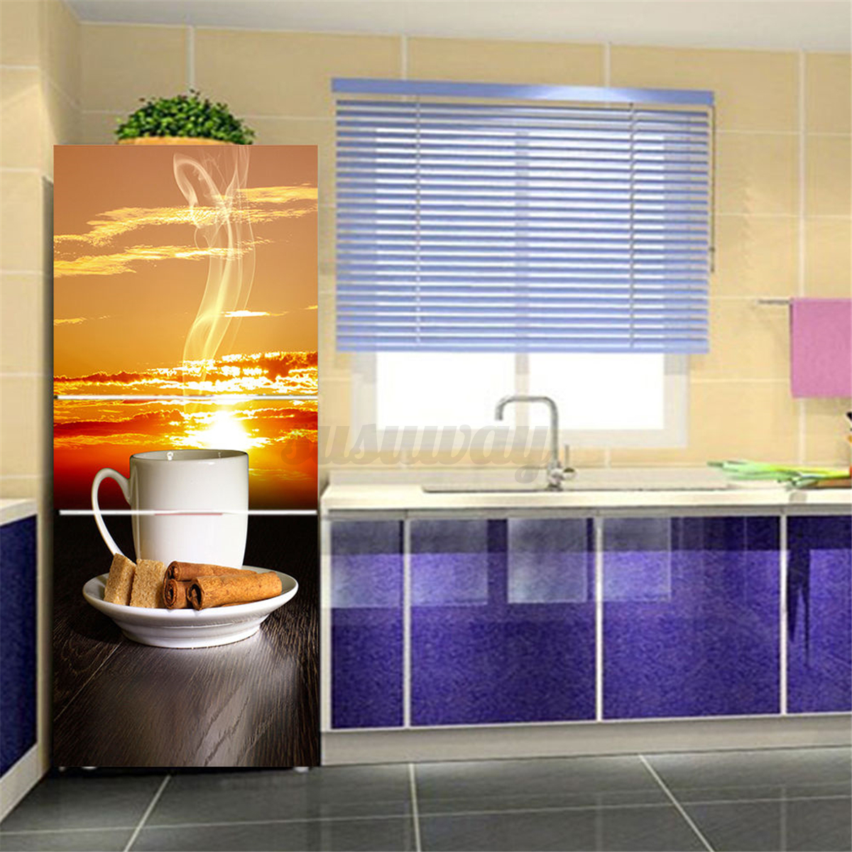 3d wall art sticker vinyl decal self adhesive door fridge for Diy photo wall mural