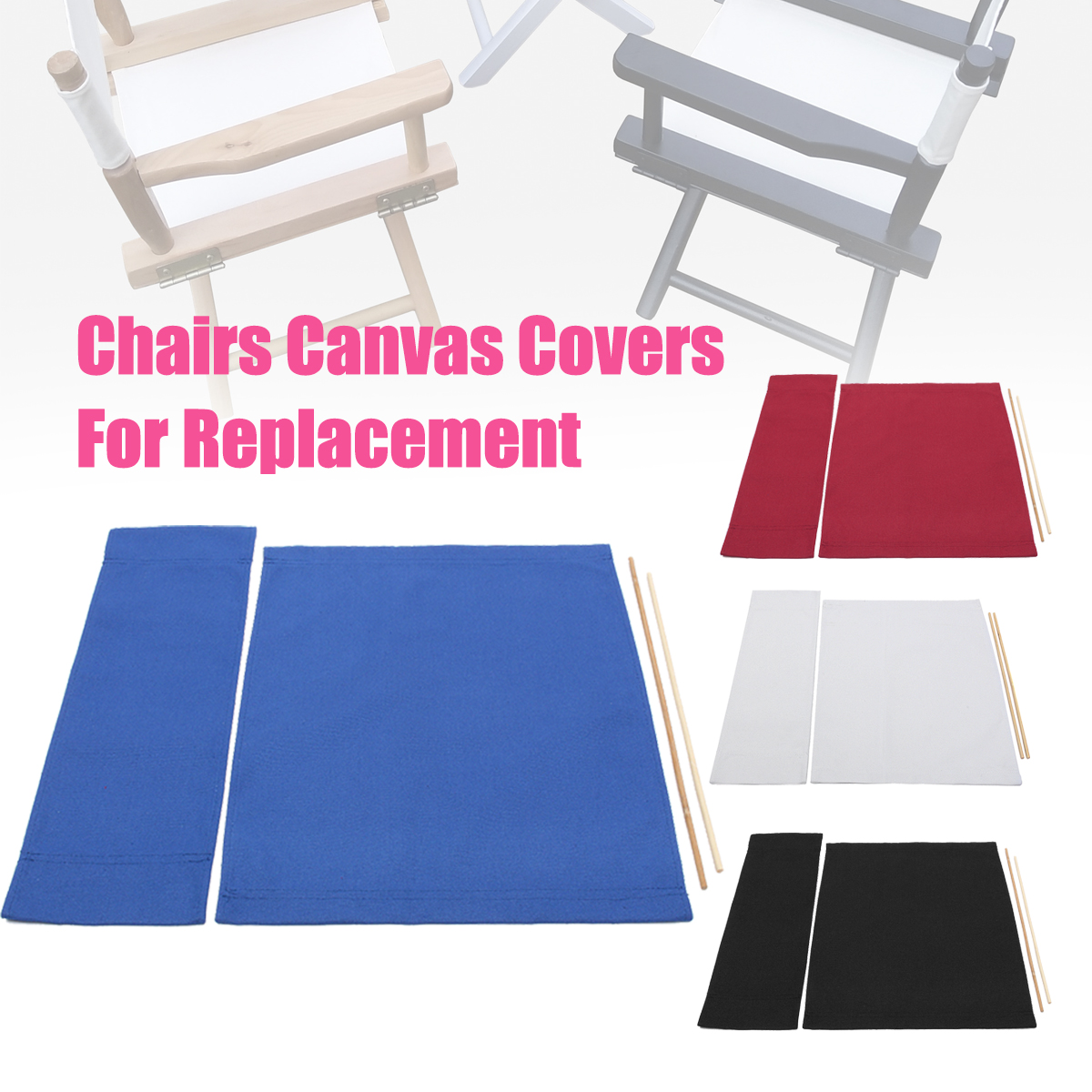 Awesome Details About Canvas Casual Directors Chairs Cover Set Replacement Seat Kit Outdoor Garden Au Caraccident5 Cool Chair Designs And Ideas Caraccident5Info