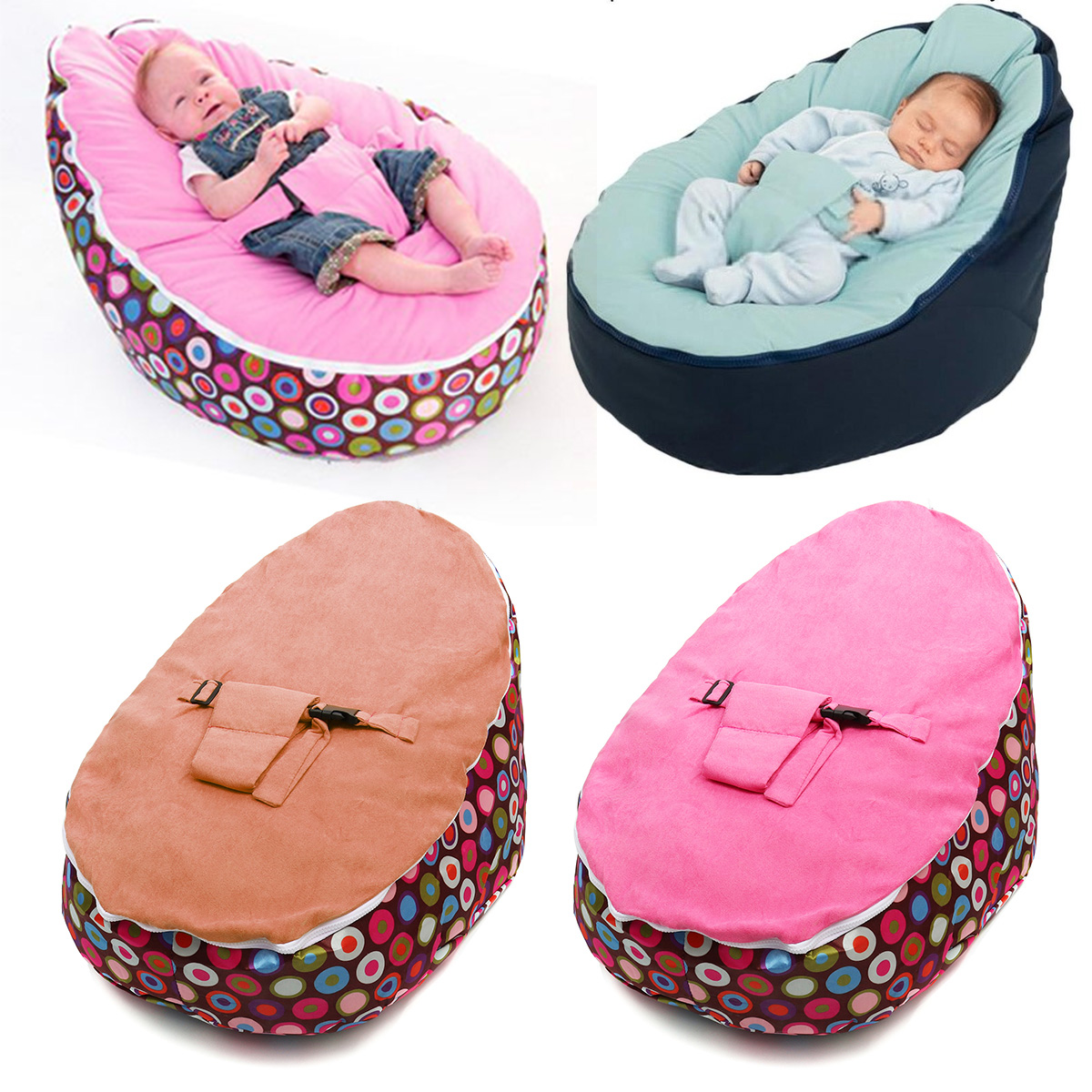 Wondrous Details About Baby Bean Bags Bed Infant Toddler Chair Seat Bouncer Beanbag Without Filling Gmtry Best Dining Table And Chair Ideas Images Gmtryco
