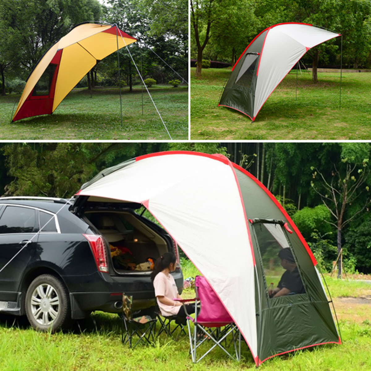 Waterproof Outdoor Car Tent Camping Tail Skylight Canopy ...