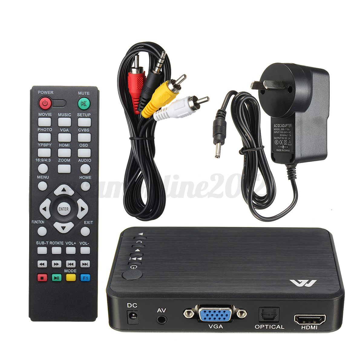 mini full 1080p hd multi media player tv box 3 outputs. Black Bedroom Furniture Sets. Home Design Ideas