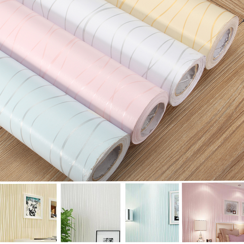 Modern stripe paper wallpaper roll self adhesive stick for Wall covering paper