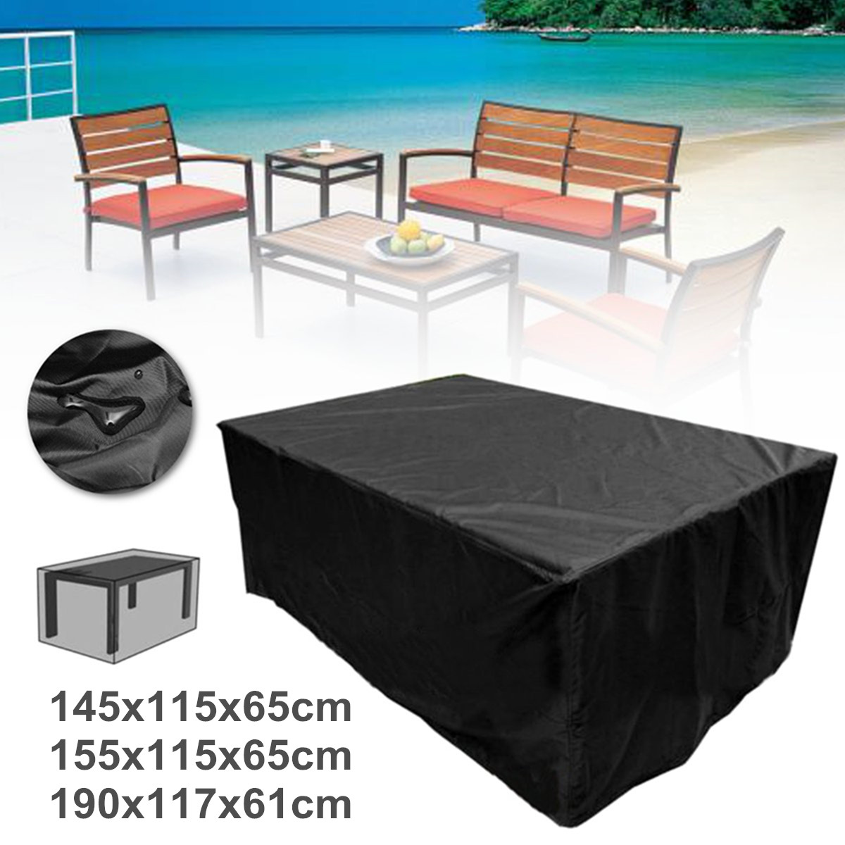 Heavy Duty Patio Rectangle Tables Chairs Sofa Waterproof Outdoor Furniture Cover