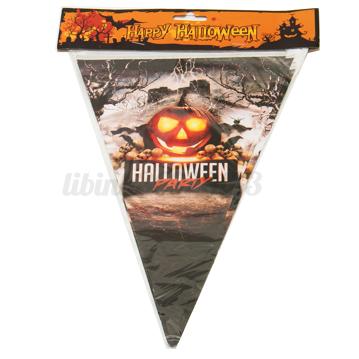 Halloween d cor accessoires fanion horizontal d coration for Decoration fenetre carnaval