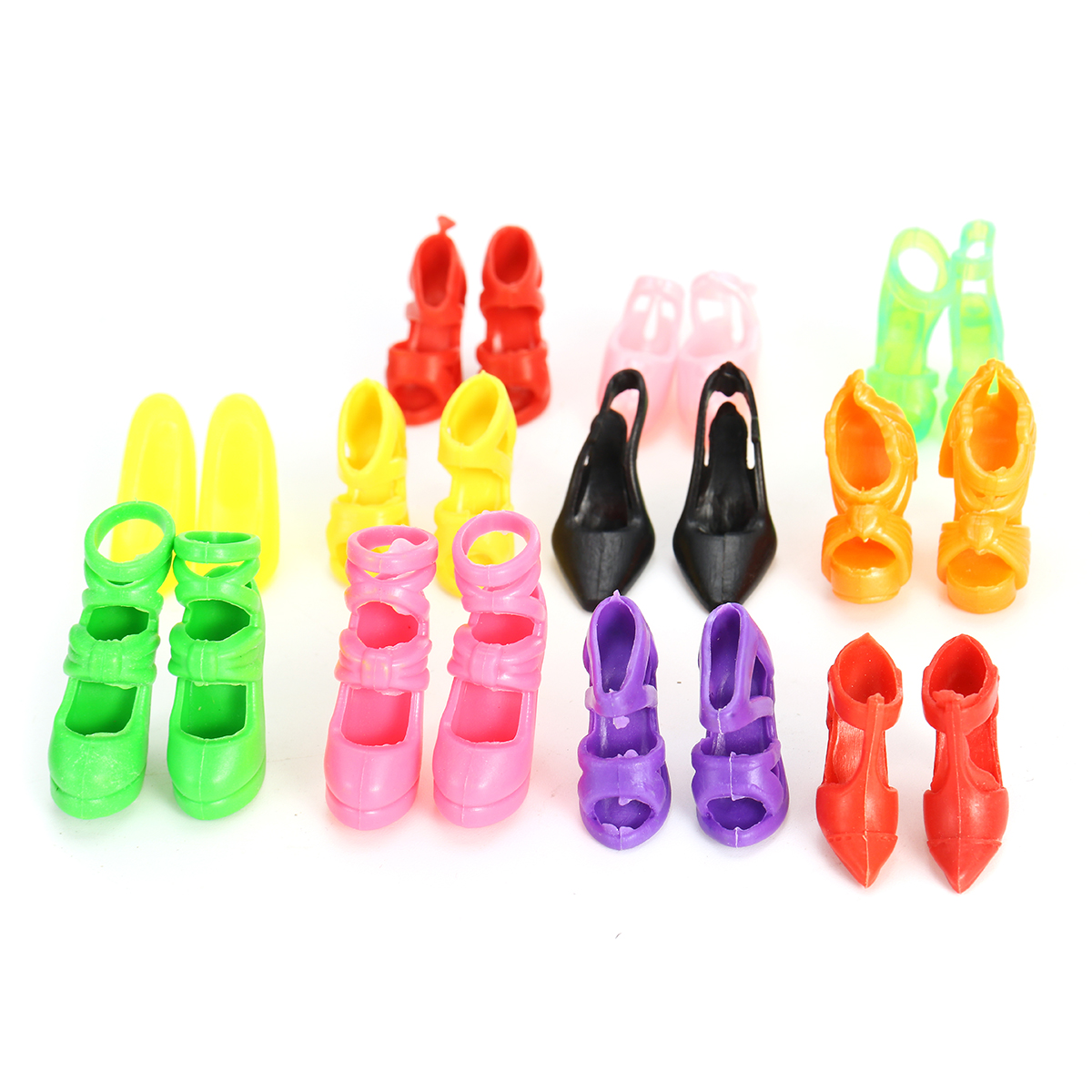 80pcs Fashion Doll High Heels Shoes Boots Sandals For Dolls Outfit Dress  **