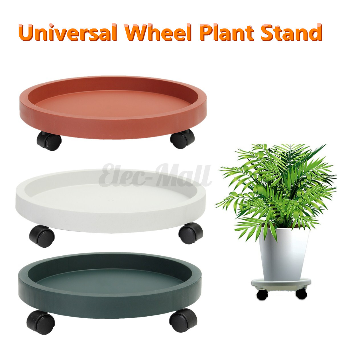 3 Colors Universal Wheel Rolling Garden Plant Planter
