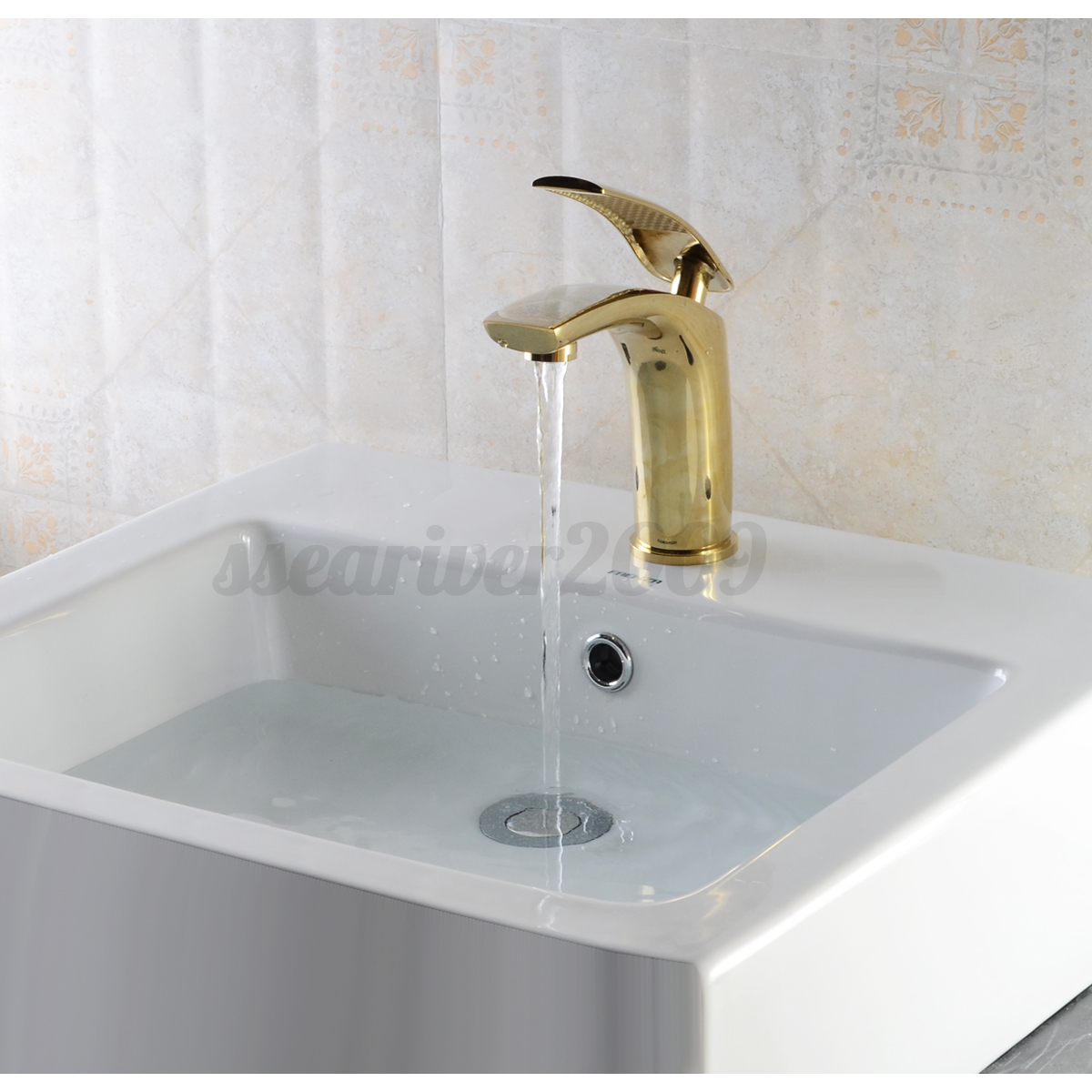 6 Colors Luxury Brass Basin Sink Bathroom Faucet Single Level ...