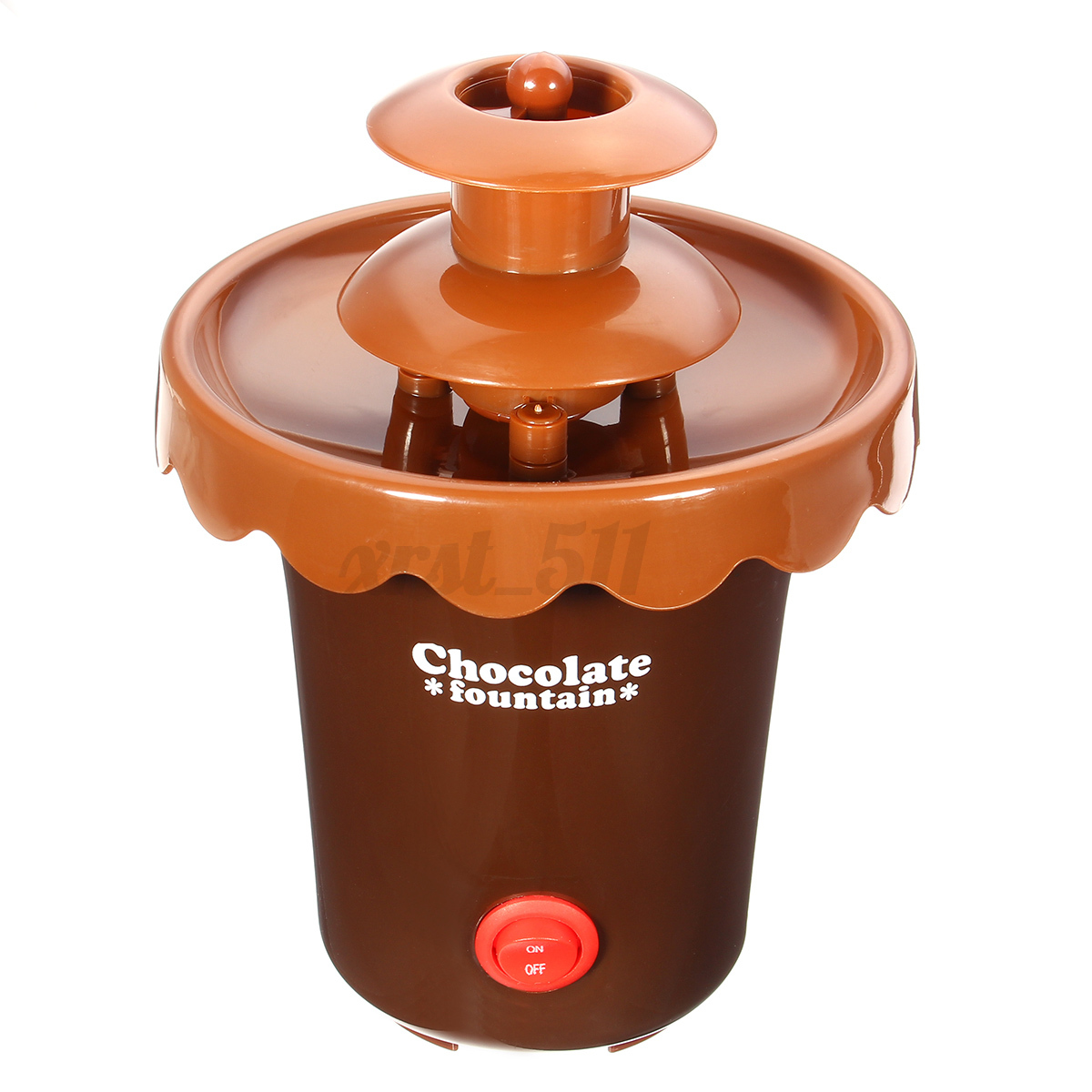 2 tiers mini chocolate fondue maker machine fountain waterfall melting machine ebay. Black Bedroom Furniture Sets. Home Design Ideas
