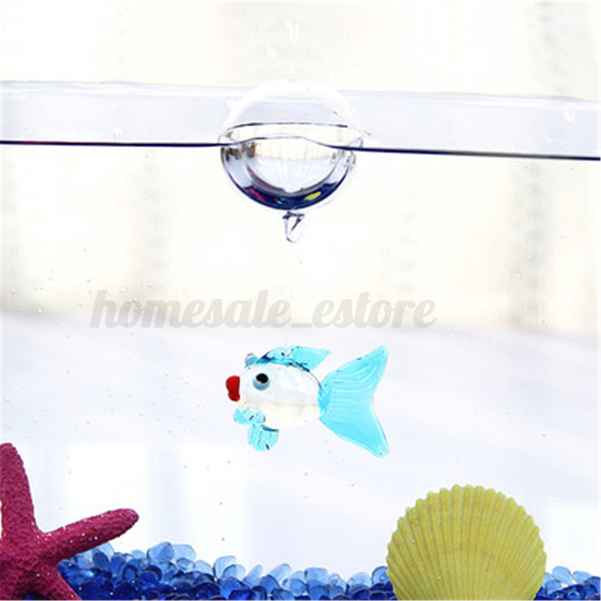 Aquarium floating blown glass bubble micro fish tank for Micro fish tank