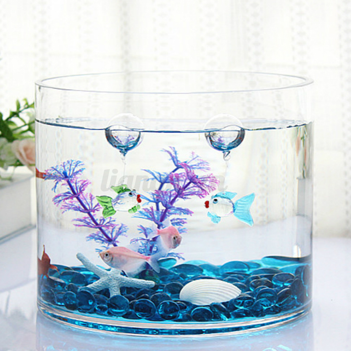 Petit poisson bulle d 39 air flottant verre aquarium ornement for Deco aquarium poisson