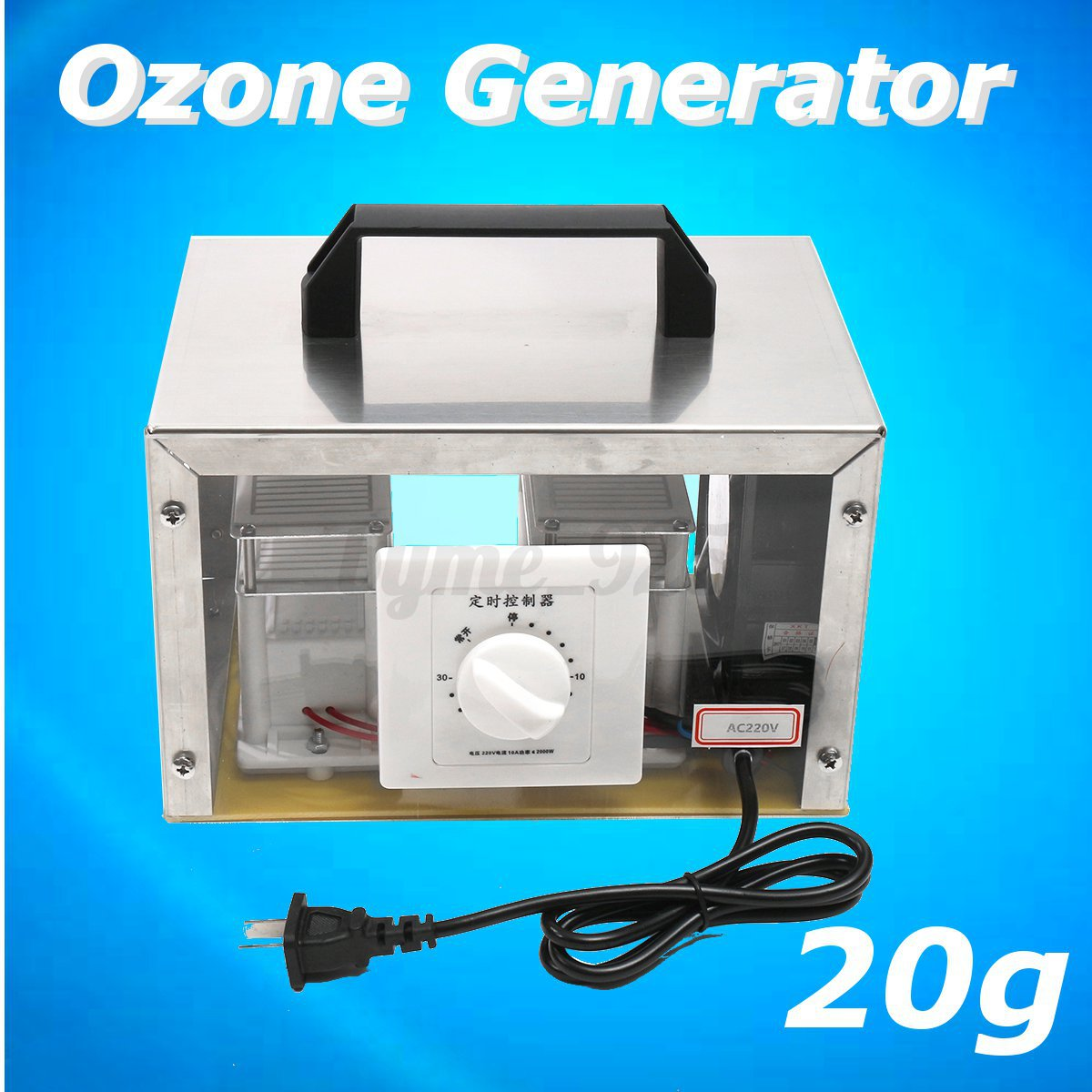 20g Ozone Generator Ozone Disinfection Machine Home Air Purifier 220V U
