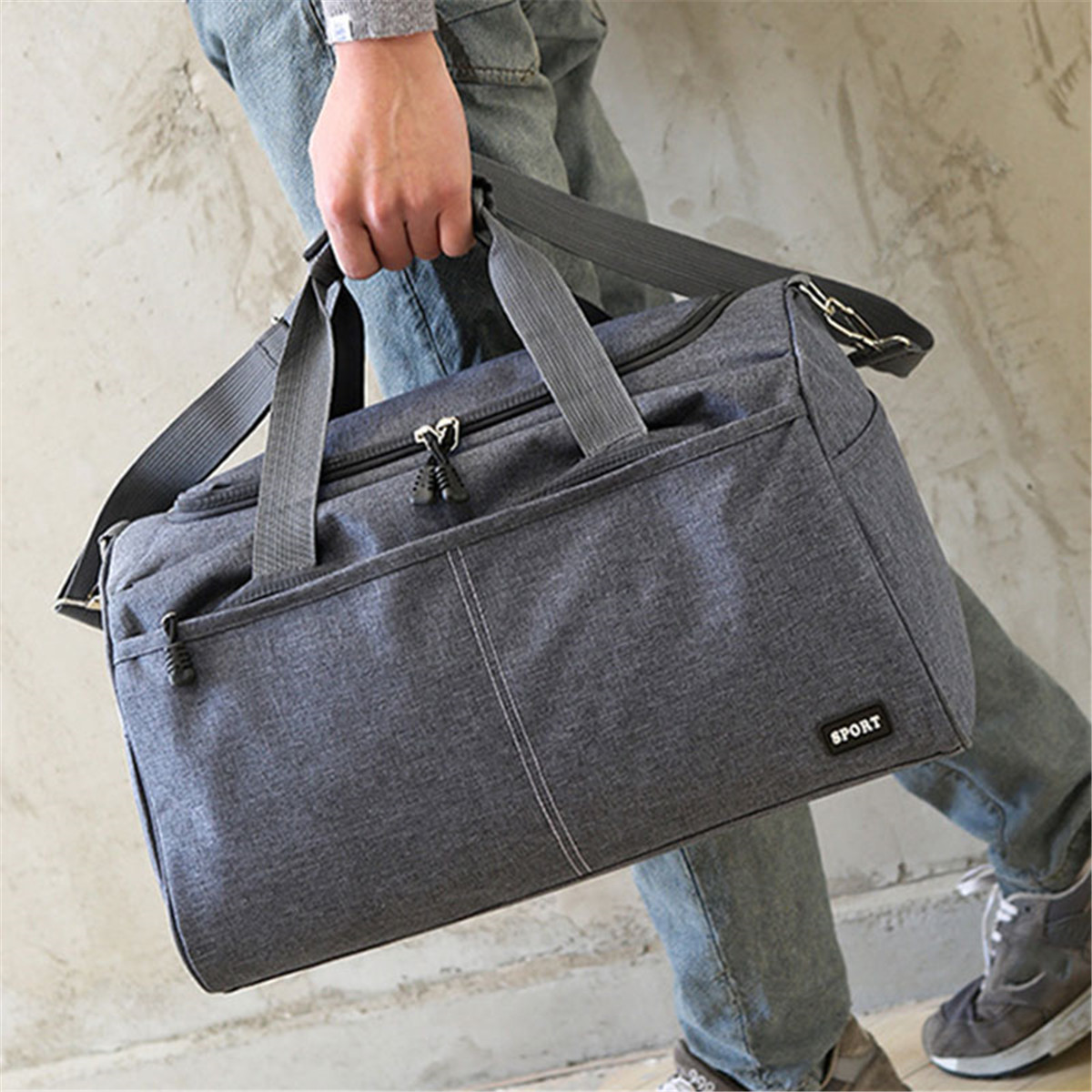 800ca2503 Details about Men Women Nylon Travel Duffel Weekender Luggage Gym Sport  Holdall Carry Bag