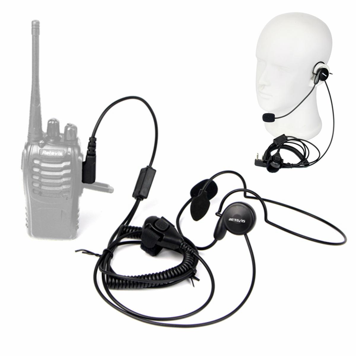 2 Pin PTT Headset Earpiece For Radio Baofeng 888s Retevis H777 Kenwood Hot!!