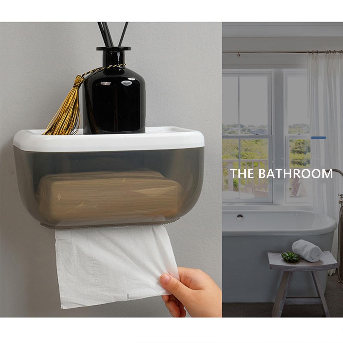 Rangement Papier Toilette Original détails sur imperméable Étagère porte-papier mural boîte de rangement  papier toilette tissus