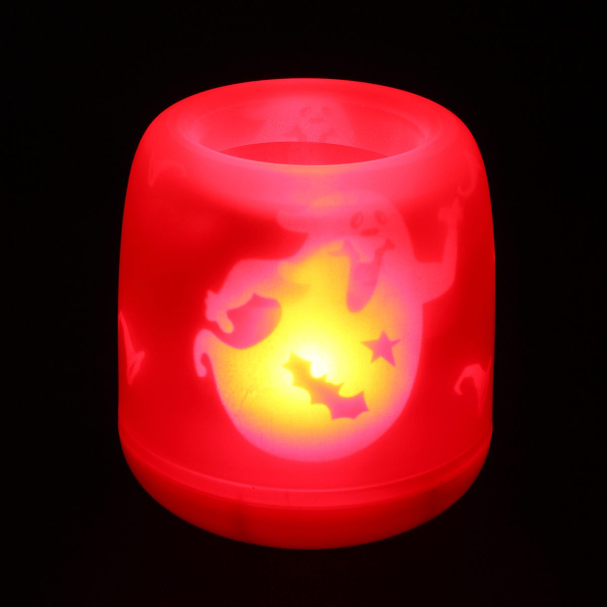 halloween flameless led projection candle electonic night light