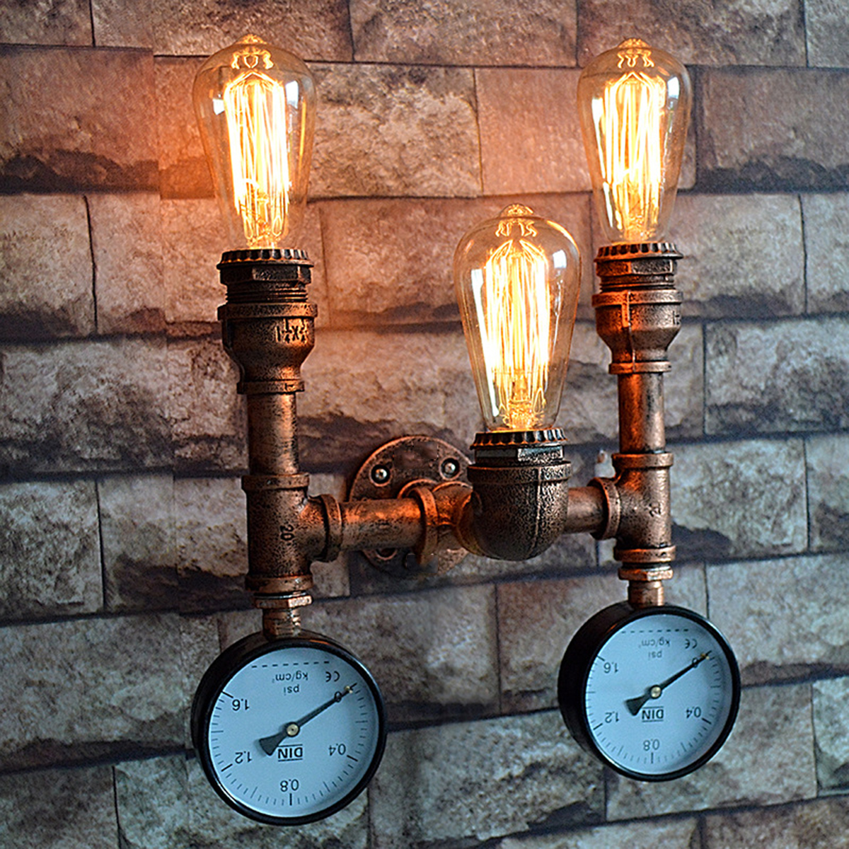 Industrial-Vintage-Wall-Light-Steampunk-Retro-Bronze-Water-Pipe-Bar-Lamp-Sconces